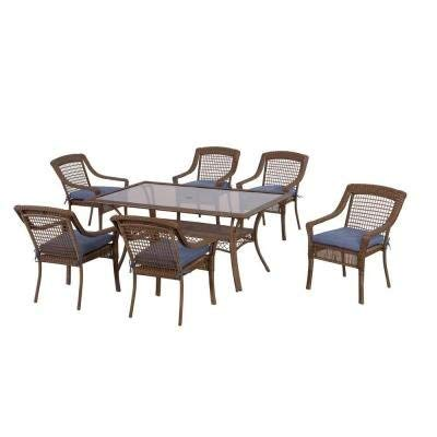 Spring Haven Brown Outdoor All-Weather Wicker 7-Piece Patio