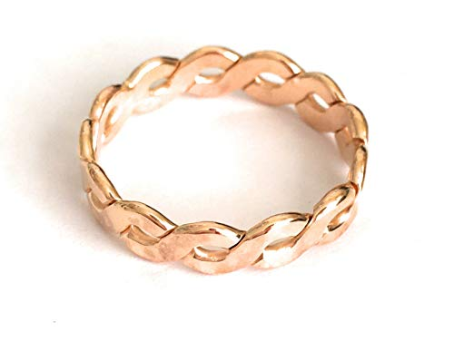 Thumb Ring | Gold Fill Big Braid | Wide Finger or Thumb Ring | Sizes 7-12| Made in USA (12)