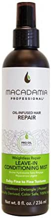 Macadamia Professional Hair Care Products Weightless Repair Leave-In Conditioning Mist - Lightweight, Color-Safe, and Cruelty-Free, 8oz
