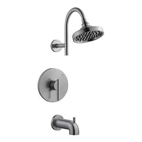 Faucet Shower Ada Handle (Design House 525691 Geneva Tub and Shower Faucet, Satin Nickel)