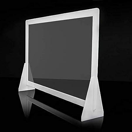 Mampara de protección de metacrilato con marco (Marco Blanco, 90 cm ancho x 60 cm alto): Amazon.es: Oficina y papelería