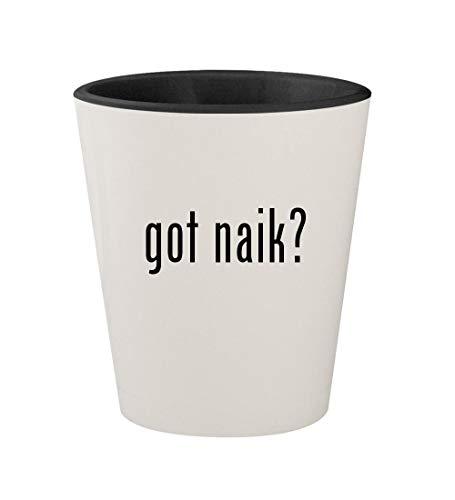 got naik? - Ceramic White Outer & Black Inner 1.5oz Shot Glass (Best Of Zakir Naik)