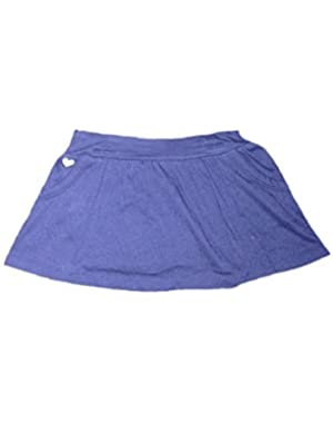 Baby Girls' Blue Skirt with Panties, Pockets and Yellow Heart on Side - 24m