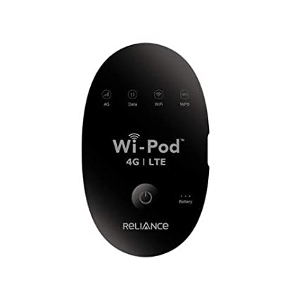 Reliance Router Hotspot 4G LTE 850/1800/2300 MHZ, Unlocked All Sim Support  GSM Up to 31 WiFi Users