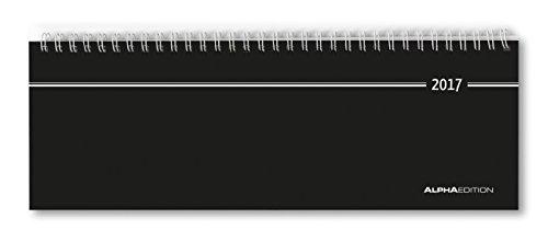 Tisch-Querkalender schwarz 2017 - Bürokalender / Tischkalender (28,5 x 10) - 1 Woche 2 Seiten