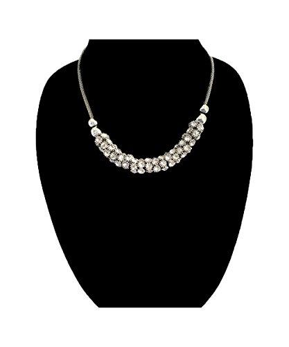 Nataliya Short Collar Necklace (silver collar crystal necklace) by Nataliya