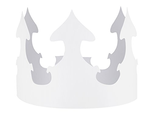 - Hygloss Paper Creative Crown, White, Pack of 24