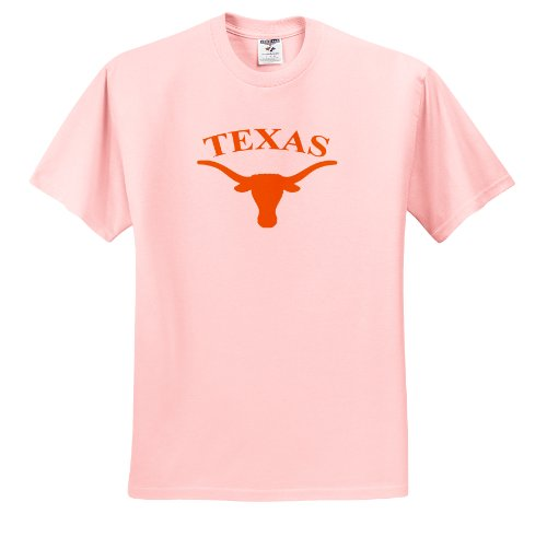 Short Texas T-shirt Sleeve Longhorns - University - Texas Longhorn - T-Shirts - Toddler Light-Pink-T-Shirt (3T)
