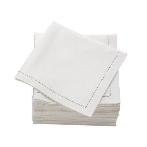 Ecru Luncheon Napkins - MYdrap SA21/101-5 Pre-folded Cotton Luncheon Napkin, 4.0