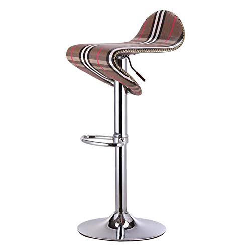 Be&xn Faux Leather barstools, 360 Degree Swivel Adjustable Height High Stool Pu Leather Pub Chair Filled Cotton Counter bar Stool Chair for bar Office Home-Lattice ()