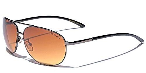 High Quality Aviator Sunglasses - X-Loop HD Vision High Definition Lens