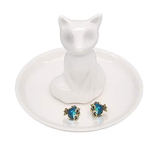 PUDDING CABIN Fox Gift Ring Holder Ceramic Jewelry Dish Mother Gift Women Girls Birthday