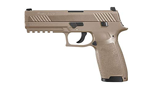 SIG Sauer P320 CO2 Coyote Tan Pistol, Metal Slide