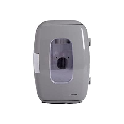 16L 17 Can Mini Refrigerator Cooler and Warmer Compact Portable Frige for Home ,Nursery, Office, Bedroom, Car or Boat AC & DC,Grey XHC-16