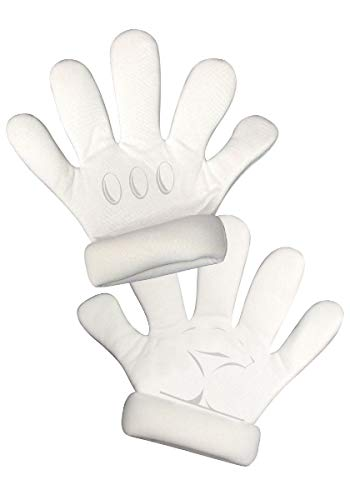 Super Mario White Gloves, Adult Size -
