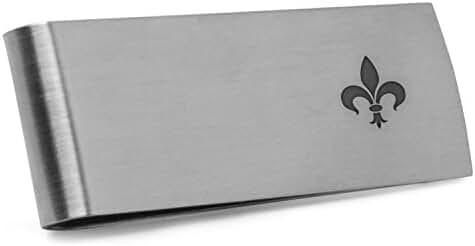 Fleur De Lis Money Clip | Stainless Steel Money Clip Laser Engraved In The USA.