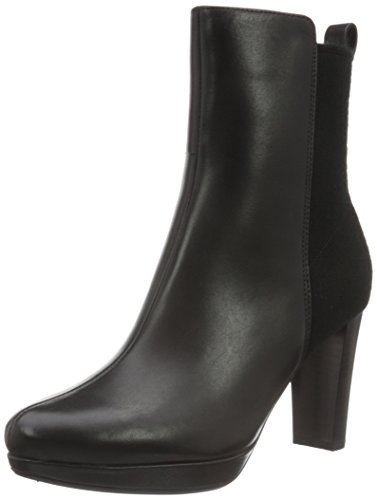 Clarks WoMen Kendra Porter Ankle Boots Black (Black Leather)