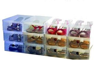 【10箱入り】女性用シューズボックス 透明クリアーケース【靴箱/収納】