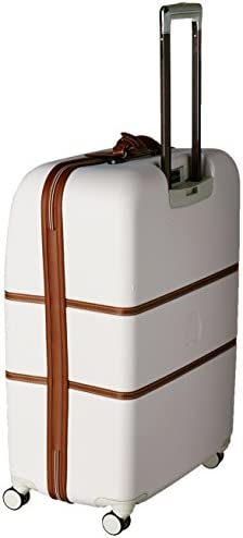 DELSEY Paris Chatelet Hard Hardside Large Checked Spinner Suitcase, Champagne White, 28-Inch