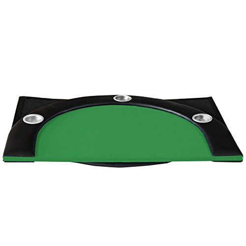 84'' 10 Player Texas Hold'em Folding Poker Table Top Green with Carrying Bag by IDS (Image #6)