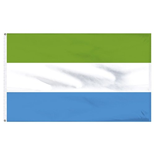 ALBATROS 3 ft x 5 ft Sierra Leone Flag House Banner Brass Grommets Fade Resistant Premium for Home and Parades, Official Party, All Weather Indoors Outdoors
