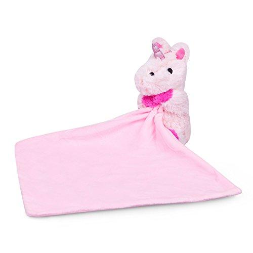 Waddle Pink Unicorn Baby Blanket Newborn Gift Plush Toy Stuffed Animal Rattle