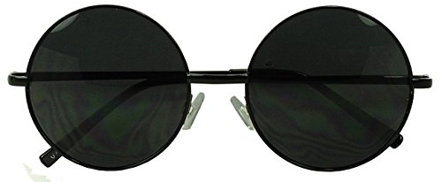 Oversized Circle Mirrored Hipster Sunglasses product image