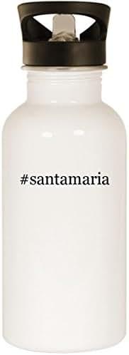 #santamaria - Stainless Steel Hashtag 20oz Road Ready Water Bottle, White