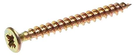 Set de 250 Pi/èces Or Kraftmann 80961 Vis multifonctions Pozidriv PZ2 3,5 x 30 mm