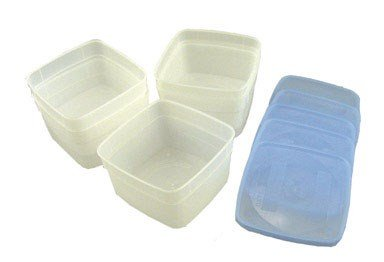 Arrow Plastic 00042 Stor Keeper Freezer Food Storage Container,5 containers with lids -
