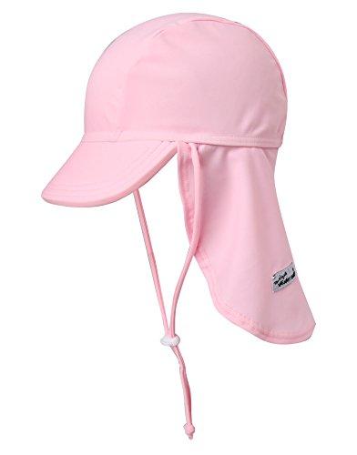 Vaenait Baby Girls Sun Protection Sporty Flap Swim hat UV Flap Cap Light Pink L