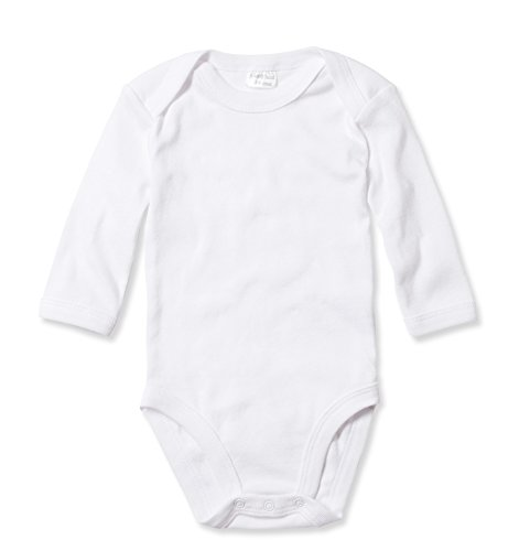 (Candyland Solid White Cotton Baby's Undershirts - 3 Pack (3-6 Months, Long Sleeve))