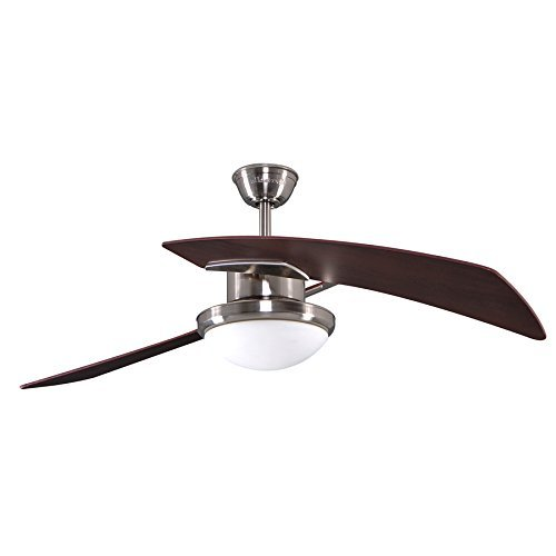 Harbor Breeze Platinum Santa Ana 48-in Brushed Nickel Downrod Mount Ceiling Fan with Light Kit and Remote
