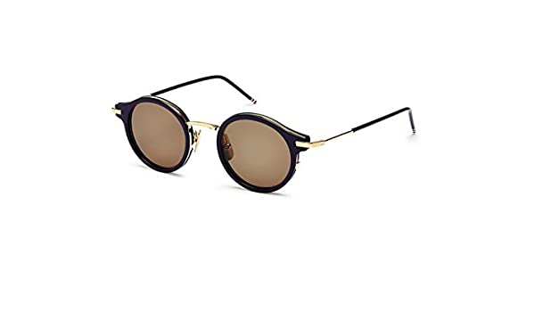 542a3c1a699 Sunglasses THOM BROWNE TB 807 D-T-NVY-GLD Navy-18K Gold w Dark Brown-AR   Amazon.ca  Clothing   Accessories
