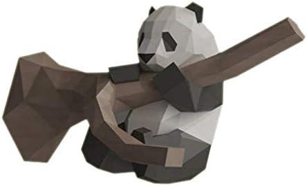NUOBESTY ツリーペーパークラフトの折り紙パンダdiy 3Dモデルdiyの装飾家のための幾何学的な折り畳まれた紙モデル(虹色の紙)
