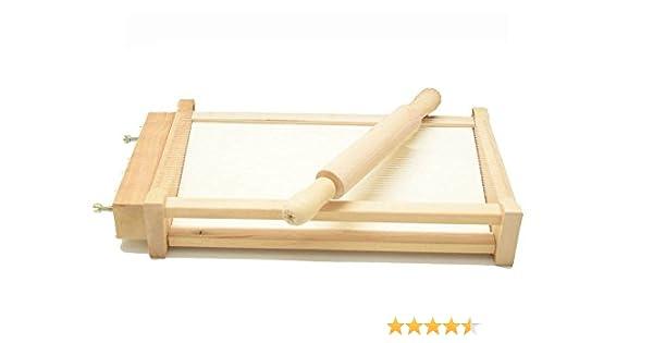 Kit de guitarra cortapasta + rodillo liso de madera de haya ...