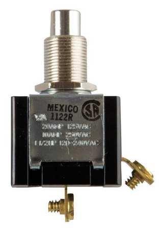 Miniature Push Button Switch, 20A @ 125V