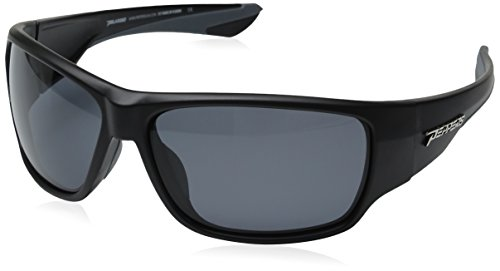 Pepper's Men's Overturn Polarized Wrap Sunglasses, Matte Black/Smoke, 63 mm (Sunglasses Polarized Pepper)