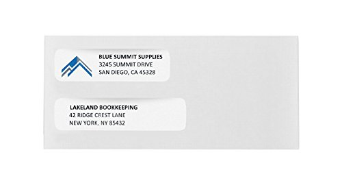 500 No. 10 Flip and Seal Double Window Security Envelopes - Perfect Size for Multiple Business Statements, Quickbooks Invoices, and Return Envelopes -Number 10 Size 4 1/8 X 9 ½ Inch