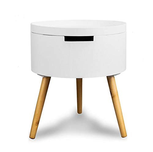 HU-coffee table Living Room Mini Simple Small Round Table Nordic Sofa Small Table Mobile Simple (Color : White)