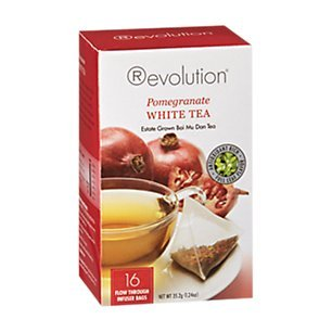 Pomegranate White - Revolution Tea Pomegranate White Tea - 16 Infuser Tea Bags