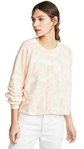 Spiritual Gangster Women's Matya Swing Sweatshirt, Ash Beachy Tie Dye, Pink, Print, Small -