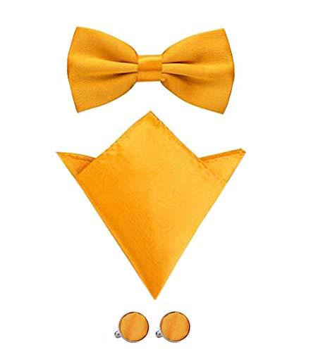 Con 21 Gemello Disponibili Aissy Da Uomo Tasca Quadrata Set Gialla E Papillon Colori 8n0OwkP