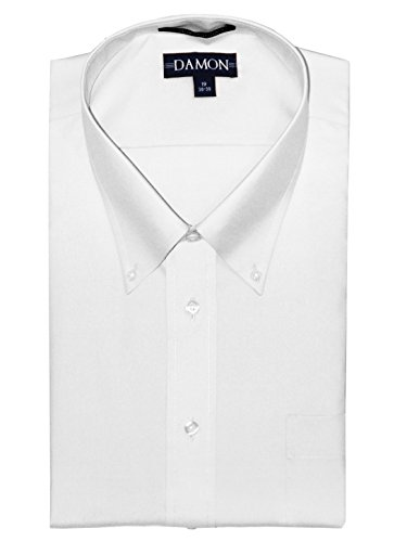 (Damon Long Sleeve Ultra Pinpoint Dress Shirt White Big and Tall (18.5 34/35))