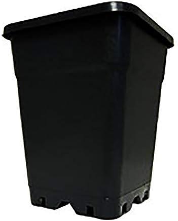 Pot cuadrado negro 7L