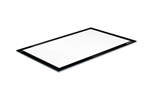 Dbmier A2 LED Ultra-thin Tracing Light Pad Adjustable Light Box - 12.60'' X 20.47'' Ideal for 2D Animation, Calligraphy, Tattoo, Sketching & Drawing, Stained Glass, Quilting, Editing Negatives by Dbmier