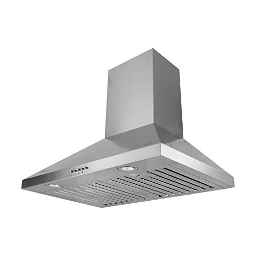 - VESTA 30'' 750CFM Wide Triangle Shaped Wall Mounted Range Hood