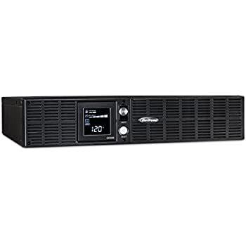 CyberPower OR1500LCDRT2U Smart App LCD UPS System, 1500VA/900W, 8 Outlets, AVR, 2U Rack/Tower