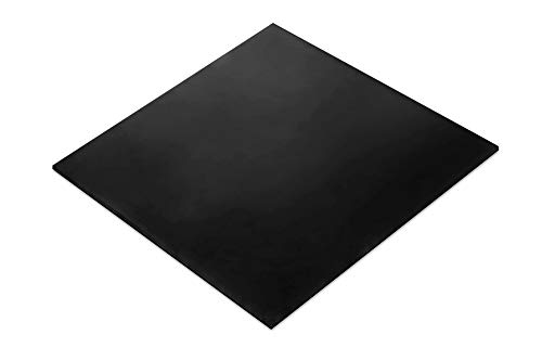 Rubber Sheet, Heavy Duty, High Grade 60A, Neoprene Black, 12x12-Inch by 1/8 (+/- 5%) for Plumbing, Gaskets DIY Material, Supports, Leveling, Sealing, Bumpers, Protection, Abrasion, Flooring