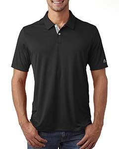 adidas Golf Mens Gradient 3-Stripes Polo (A206) -Black -2XL